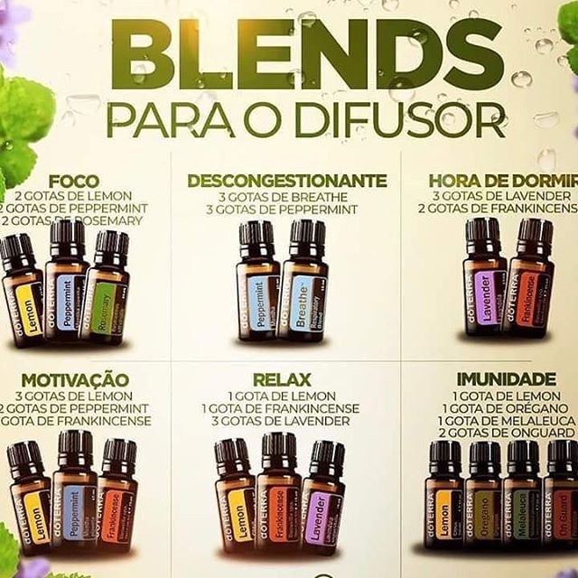 blends mix para usar no difusor doterra
